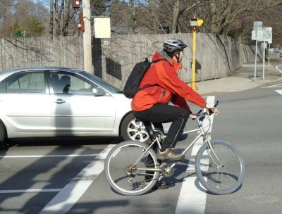 Bicyclist Experiencing Car Heat
