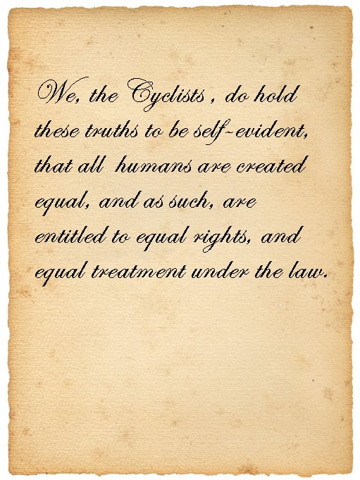 The Cyclists' Creed