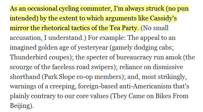 Anti-Bike Movement And Tea Party Rhetoric