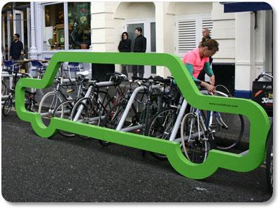 Car Shaped Bike Rack