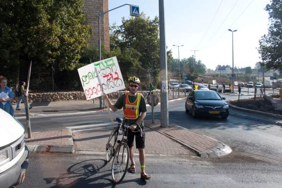 Jerusalem Bike Lane Protest