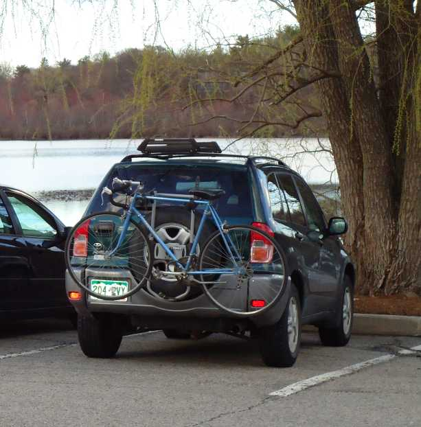 Bike On Car Rack