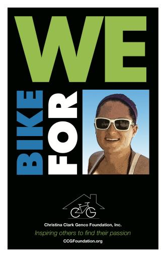 We Bike For Christina Logo
