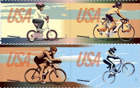 USPS 2012 Bicycle Stamps