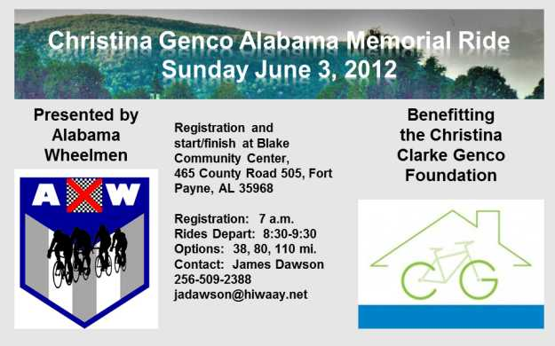 Christina Genco Alabama Memorial Ride
