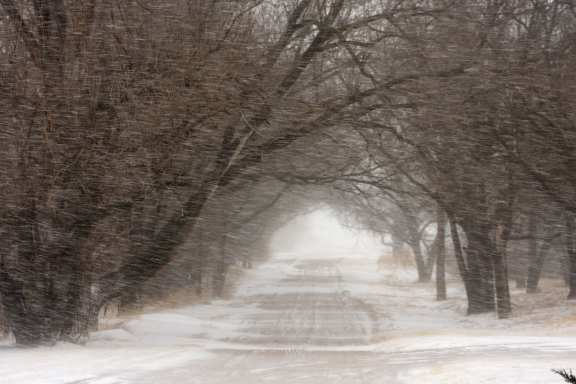 Road During A Blizzard