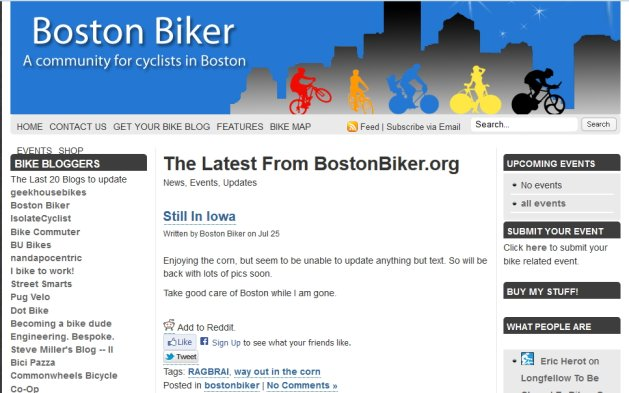 Boston Biker's Owner Couldn't Upload Photos To His Blog