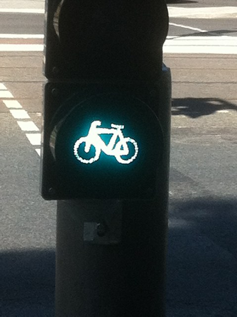 Bicycle Stop Light In Germany